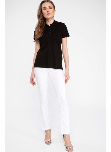DeFacto Basic Polo T-shirt Siyah